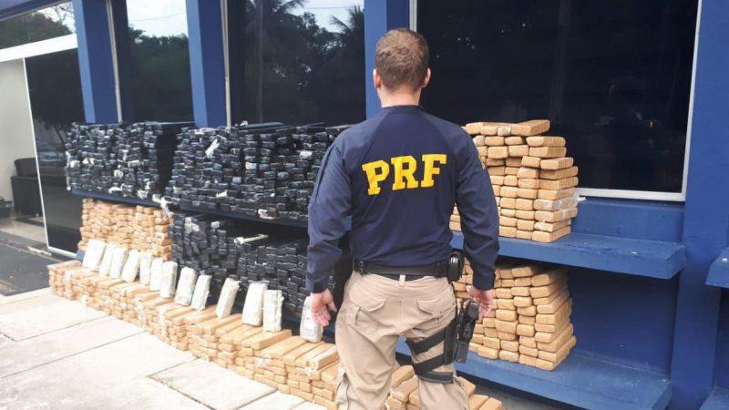 PRF apreende 1 tonelada de maconha em caminhão na BR-060 no DF