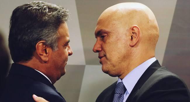 ALEXANDRE DE MORAES DETERMINOU ACESSO INTEGRAL DAS DELAÇÕES A AÉCIO NEVES