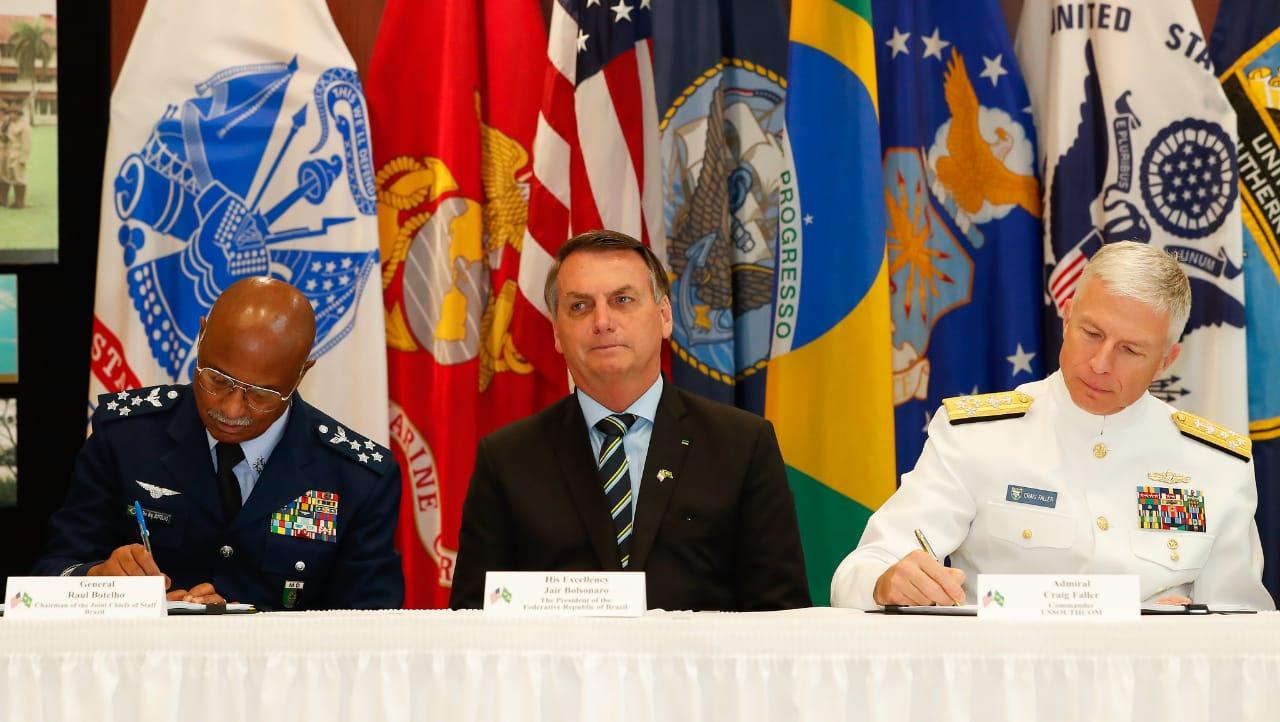 ACORDO ENTRE FORÇAS ARMADAS DO BRASIL E EUA É ENCAMINHADO AO CONGRESSO