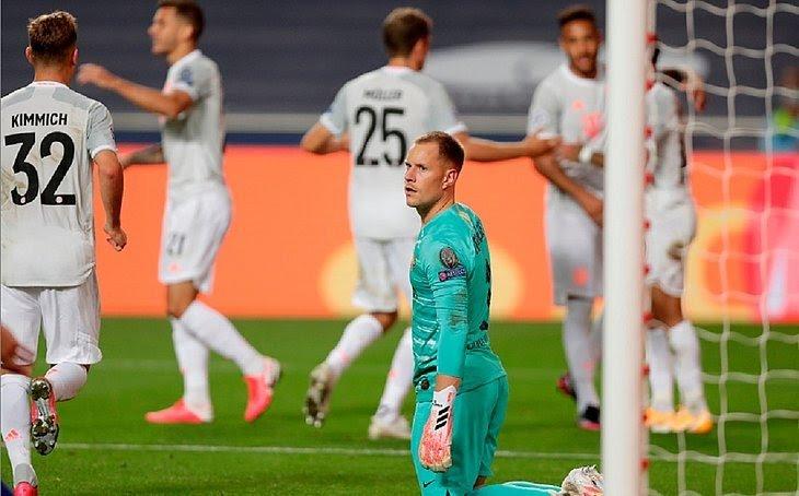CHOCOLATE ALEMÃO: Barcelona passa vergonha frente ao Bayer de Munique na liga dos campeões, Veja gols