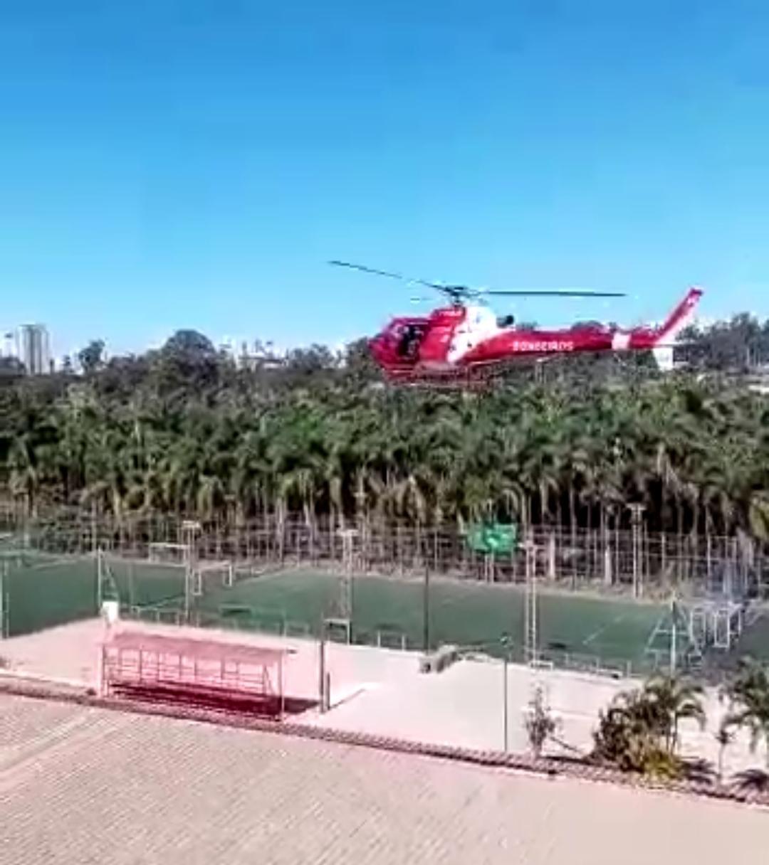 VÍDEO: MOMENTO EM QUE O HELICÓPTERO DO CORPO DE BOMBEIROS CAI NO HOSPITAL UNIVERSITÁRIO DO DF