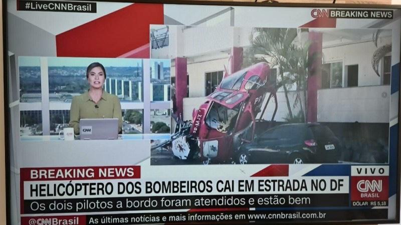 URGENTE – HELICÓPTERO DOS BOMBEIROS DO DF CAI EM UMA UNIVERSIDADE