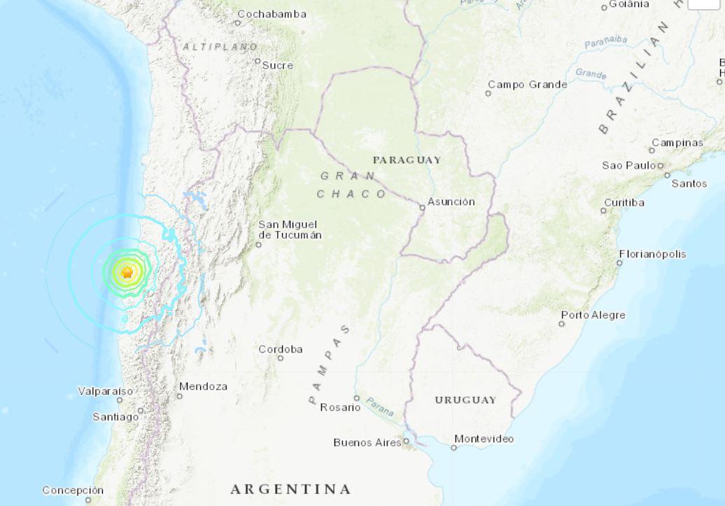 Forte terremoto atinge a região do Atacama, no norte do Chile