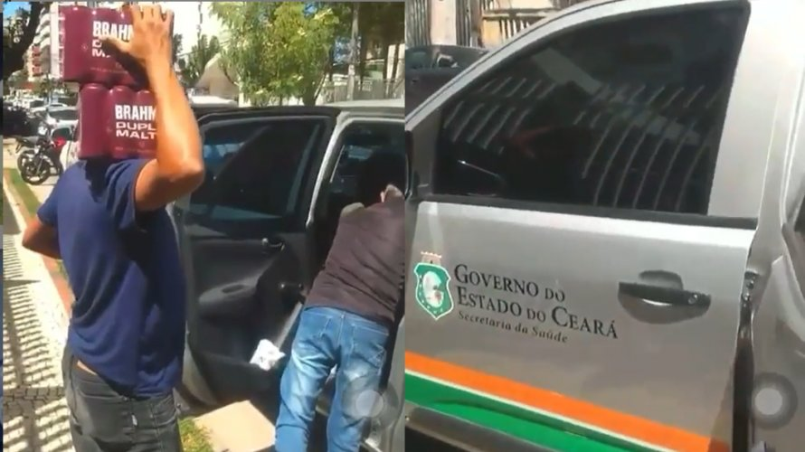 CARRO OFICIAL DO GOVERNO CEARENSE DO PT É FLAGRADO TRANSPORTANDO CERVEJA; VEJA VÍDEO