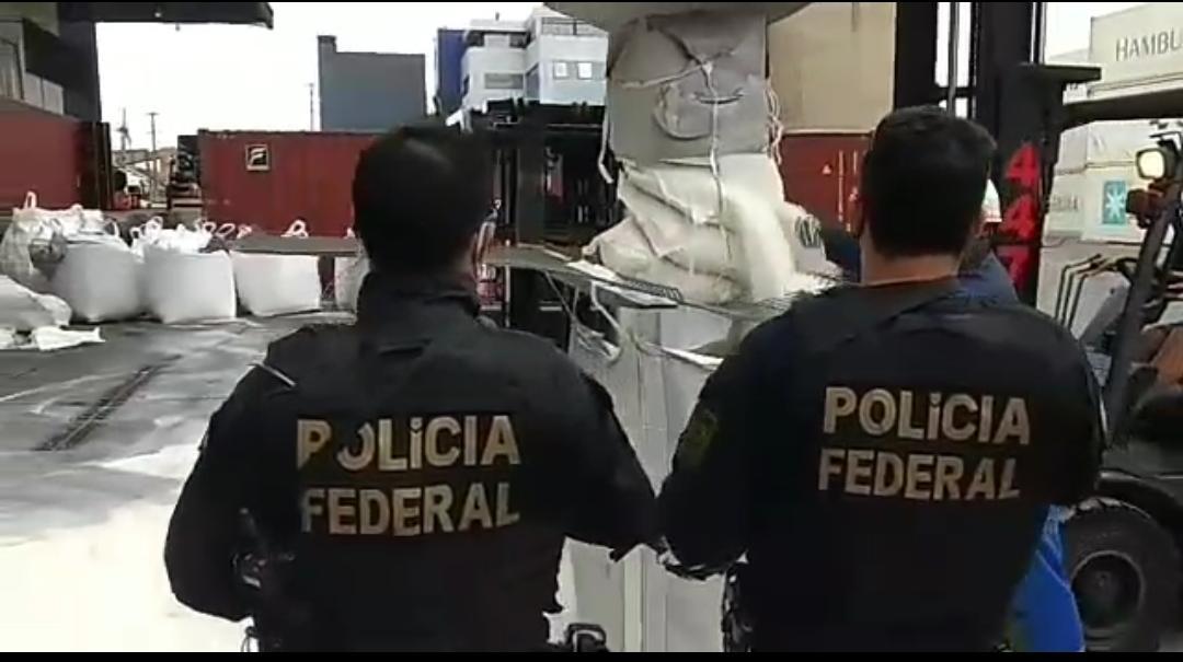 PF APREENDE QUASE 1 TONELADA DE COCAÍNA NO PORTO DE PARANAGUÁ EM SACOS DE AÇÚCAR, VEJA VÍDEO