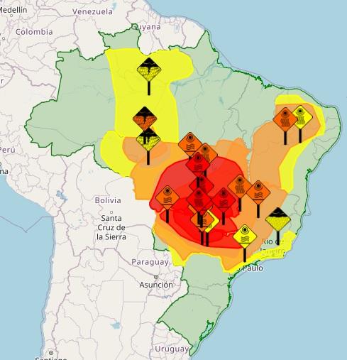 Onda de calor faz Inmet emitir alerta para risco de morte em parte do Brasil