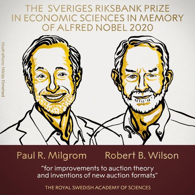 Nobel da Economia vai para americanos por teoria sobre leilões