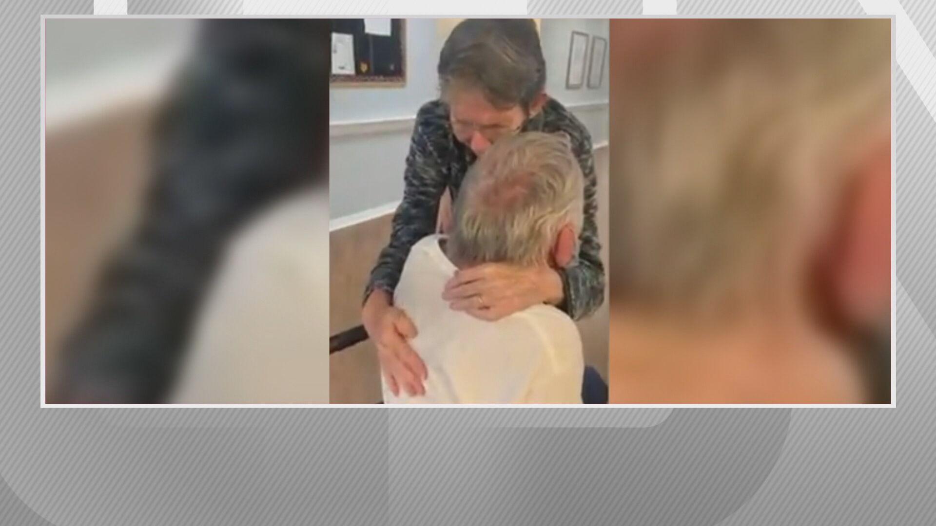 Casal de idosos se reencontra após mais de 200 dias de separação pela Covid-19
