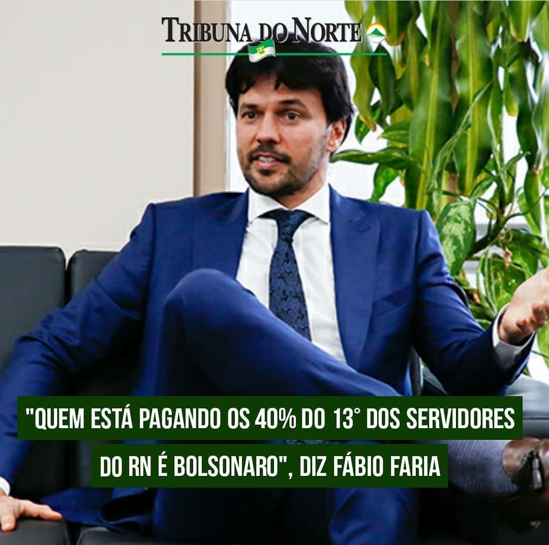 """MINISTRO FÁBIO FARIA AFIRMA QUE FÁTIMA ESTA """"ATIRANDO COM MUNIÇÃO DE BOLSONARO""""; quem está pagando os 40% dos servidores do RN é Bolsonaro"""""""