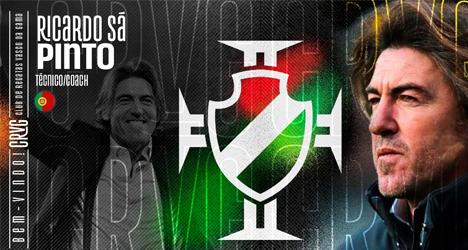 Vasco anuncia português Ricardo Sá Pinto; técnico veste camisa de Romário