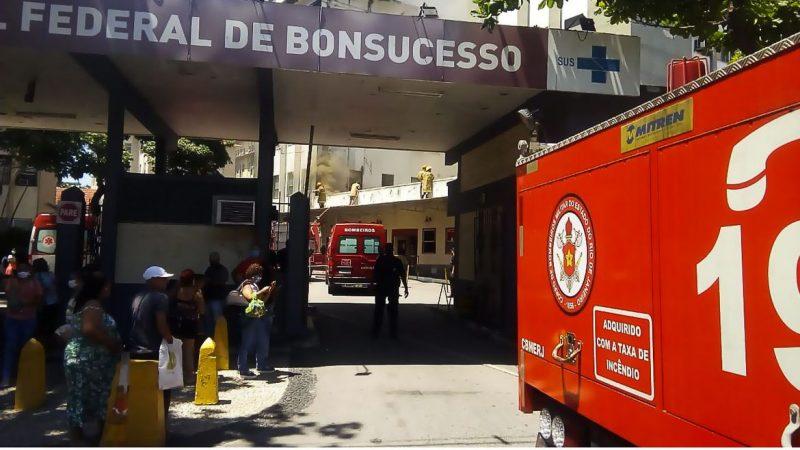 Incêndio atinge Hospital Federal de Bonsucesso, no Rio