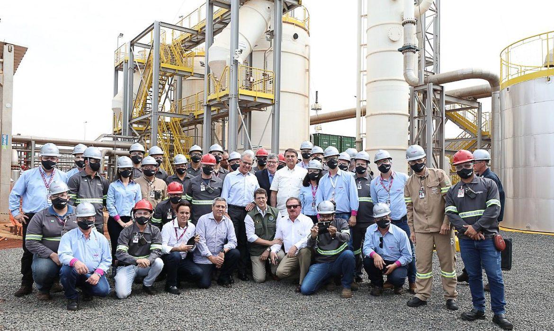 Bolsonaro e ministros inauguram fábrica de biogás em São Paulo