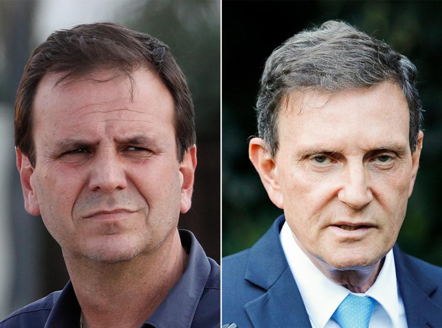 Fugindo: Eduardo Paes falta a debate com Crivella