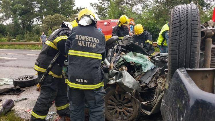 Acidente de trânsito em SC deixa seis mortos, sendo 3 crianças