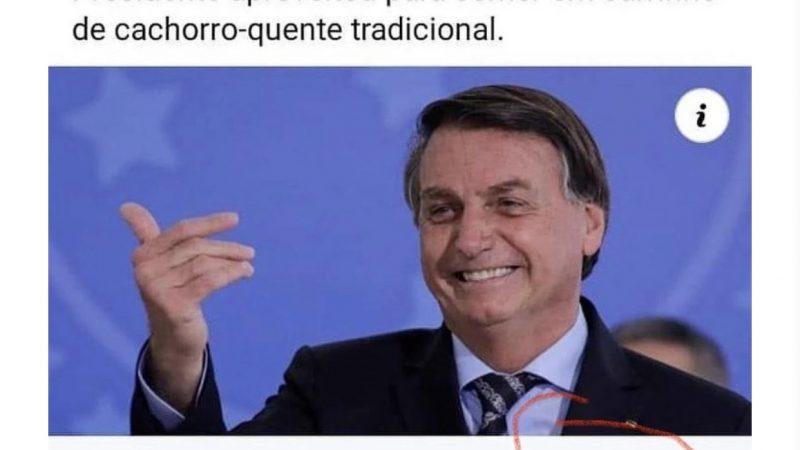 ACREDITE SE QUISER: Band critica Bolsonaro por 'comer sem máscara'