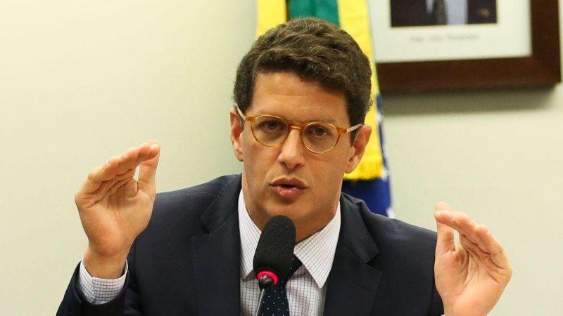 """Ricardo Salles detona artistas que torcem 'contra o Brasil' para criticar o governo: """"A maior parte da gritaria é porque Bolsonaro fechou a torneira. Muitos criticam do seu iate, jatinho, fumando uma maconha""""; VEJA VÍDEO"""