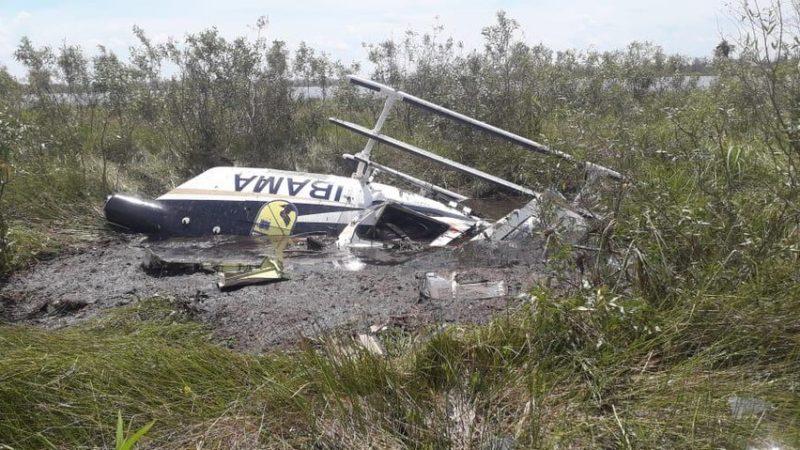 Aeronave do Ibama cai no Pantanal durante combate a incêndio e piloto morre em MT