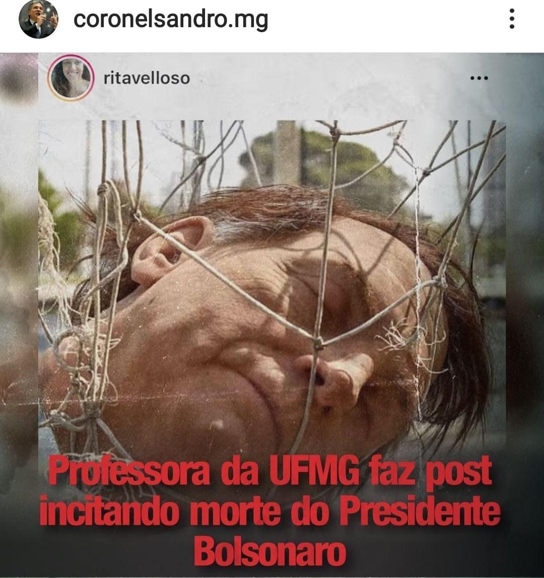 Professora vai ser processada por Deputado de Minas Gerais por incitar Morte do presidente Bolsonaro