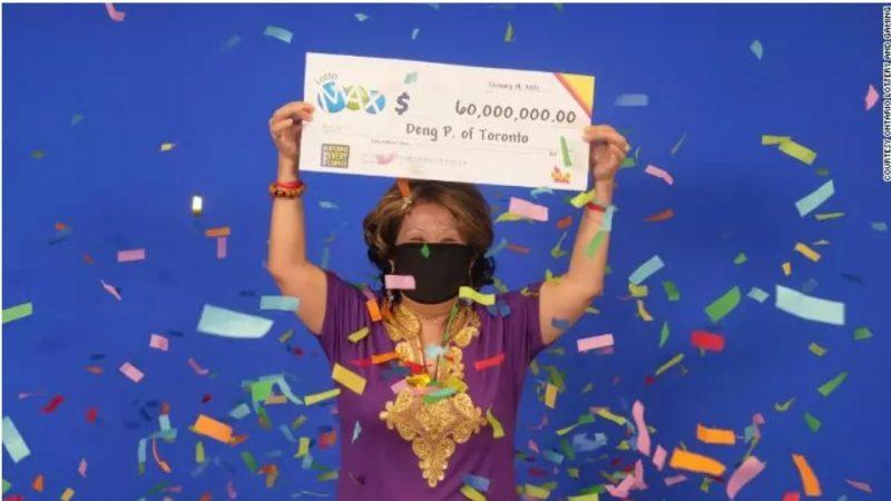 Mulher que ganhou US$ 60 milhões na loteria disse que marido sonhou com números