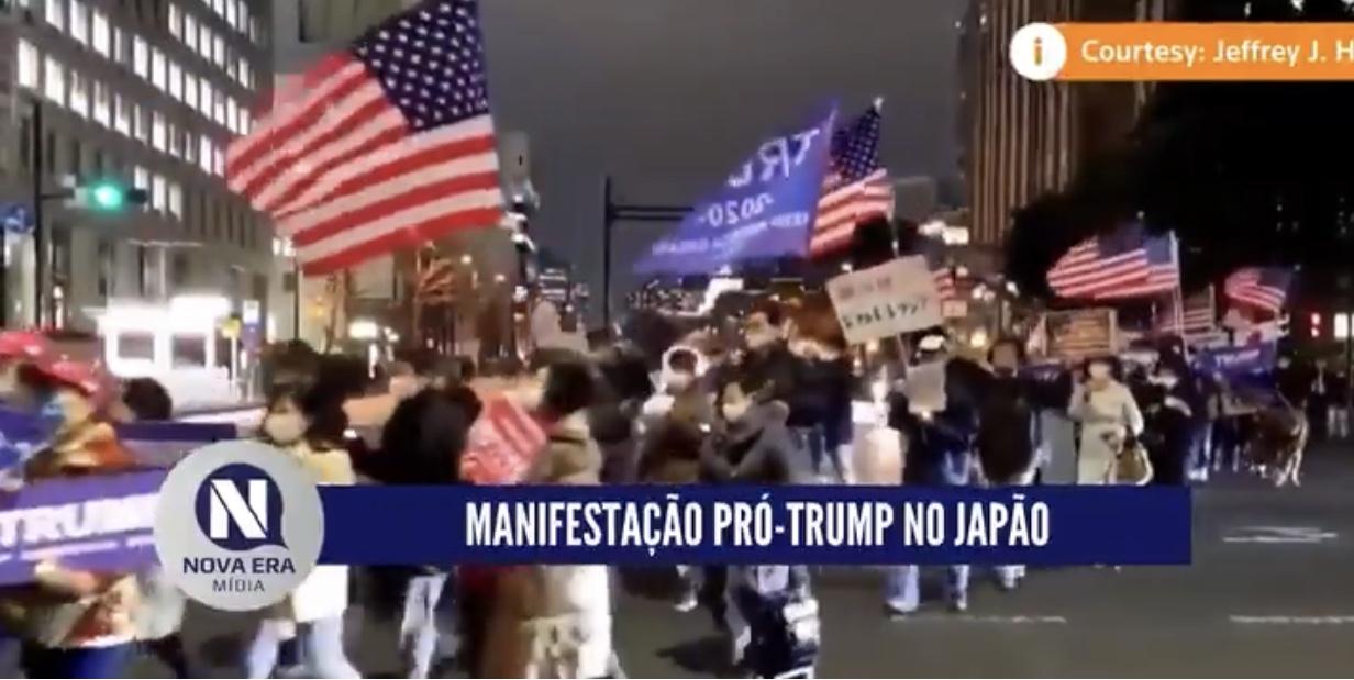 MANIFESTANTES PRÓ-TRUMP SAÍRAM AS RUAS NO JAPÃO, VEJA VÍDEO