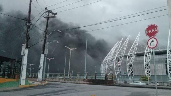 Urgente – incêndio na Arena Castelão em Fortaleza
