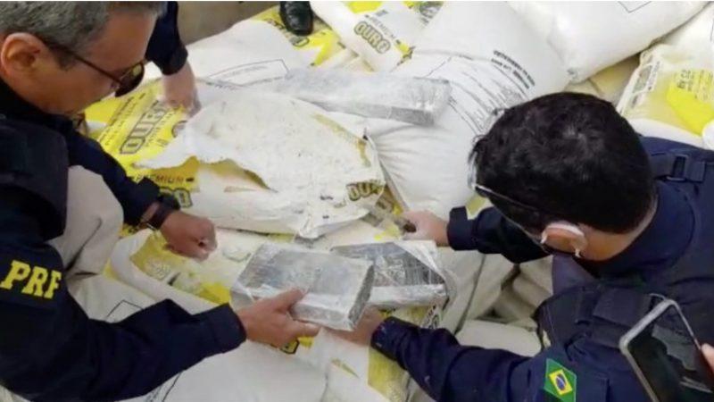 PRF apreende mais de 500kg de cloridrato de cocaína no MS