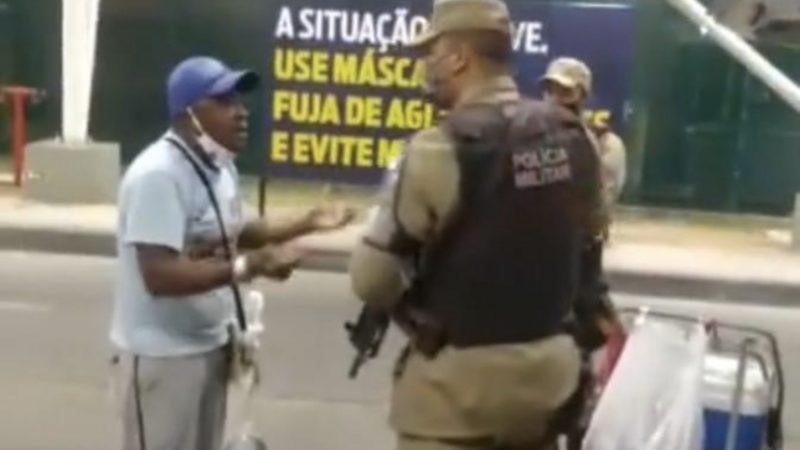 Vendedor de picolé é preso por estar trabalhando na rua fora do horário estabelecido por Rui Costa na Bahia