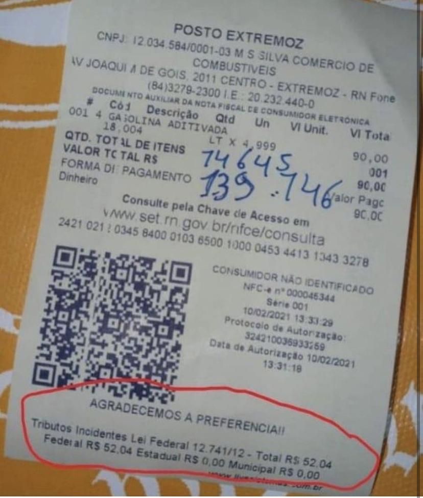 """Bolsonaro denuncia fraudes em notas fiscais de postos do RN: """"Jogam a população contra o Governo Federal como se fosse o único a arrecadar"""""""