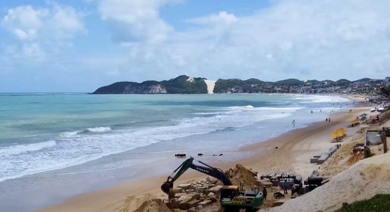Governo federal paga obras em Ponta Negra, mas não é citado em vídeo feito pela Prefeitura de Natal