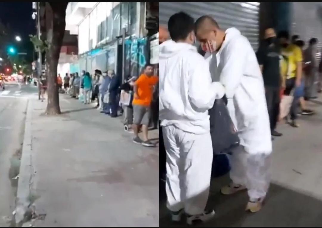 FOME: Argentinos fazem fila para receber sobras de padaria
