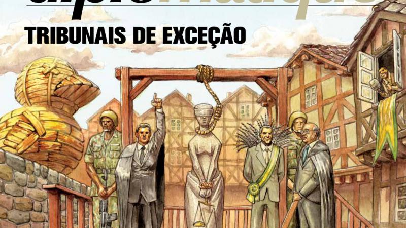 A edição da revista Le Monde que mostra o STF enforcando a deusa da justiça Themis, é de 2018