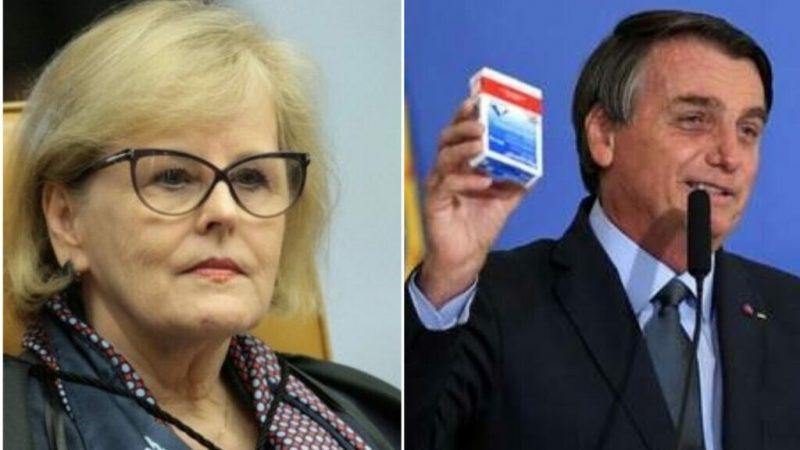 Rosa Weber atende pedido do PDT e envia notícia-crime contra Bolsonaro por incentivar uso da cloroquina