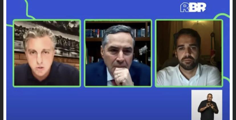 De olho em 2022: Em evento, Barroso e Huck alinham discurso contra Bolsonaro