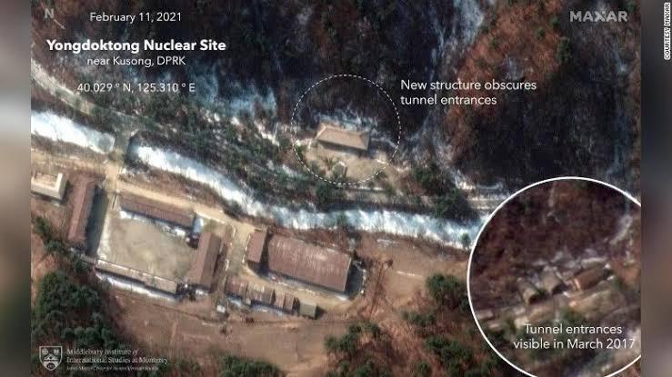 Coreia do Norte construiu prédios sobre suposto bunker de armas nucleares