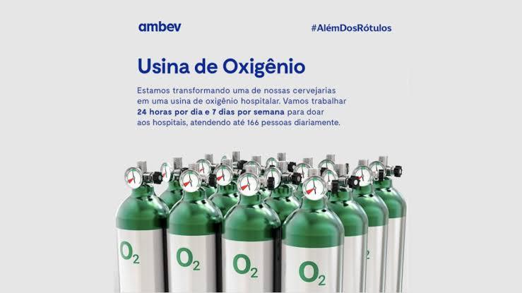 Ambev adapta cervejaria e vai produzir oxigênio hospitalar para doação em SP