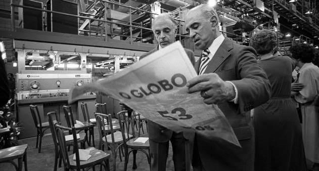 """Internautas resgatam editorial de Roberto Marinho em defesa do '31 de Março de 1964′: """"Ressurge a democracia"""""""