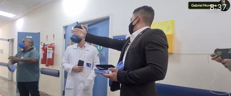 Vereador Gabriel Monteiro visita hospital lotado e flagra 'médicos fantasmas'; VEJA VÍDEO