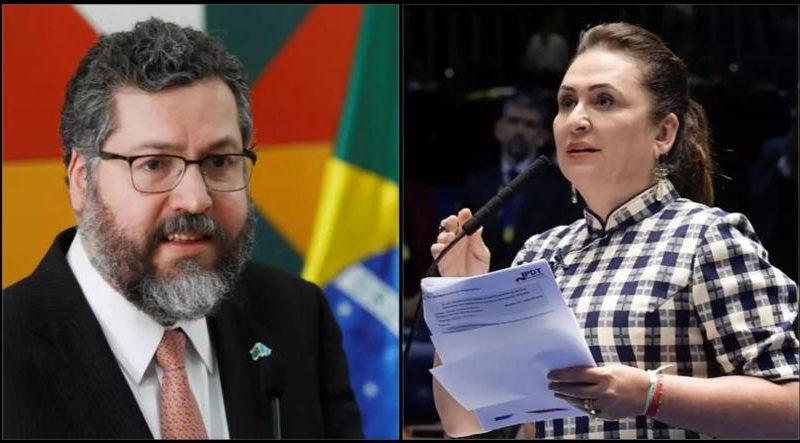 Kátia Abreu chama Ernesto de 'marginal' após chanceler revelar pressão por 5G chinês
