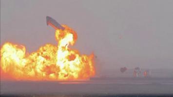 Protótipo da SpaceX para Marte pousa pela primeira vez, mas explode pouco depois
