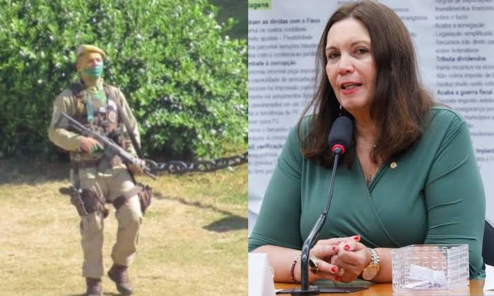 """Bia Kicis usa redes para homenagear PM morto após protestar contra restrições na Bahia: """"Soldado herói, chega de cumprir ordem ilegal"""""""