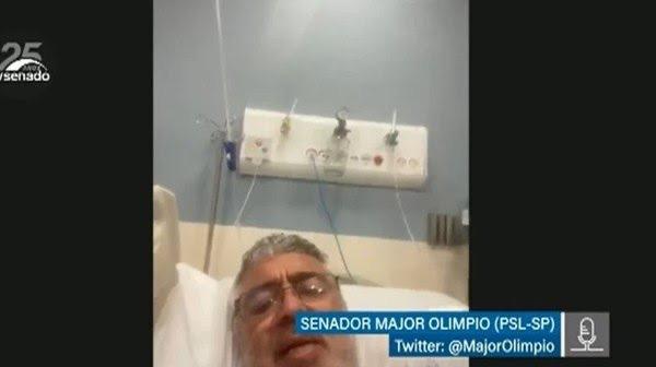 Major Olimpio foi levado para UTI por complicações do Covid, diz assessoria do senador