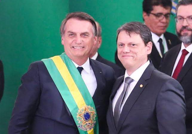 Bolsonaro sugere Tarcísio para as eleições de São Paulo em 2022