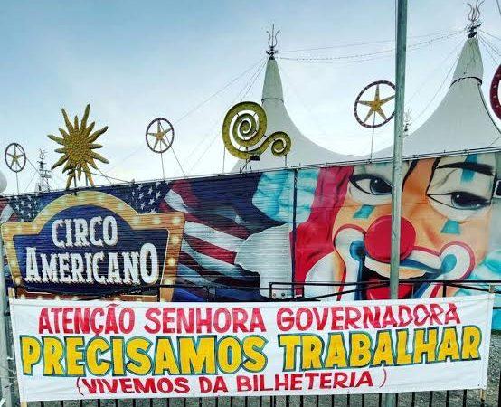"""Fechado, circo em Natal passa dificuldades e cobra solução do Governo Fátima: """"Precisamos trabalhar"""""""