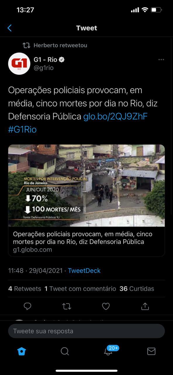 """G1 'insinua' que operações policiais causam mortes e é criticado por leitores: """"E os bandidos matam quantos?"""""""