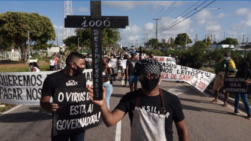"""Trabalhadores fazem mais um dia de protesto contra restrições do governo Fátima: """"Defesa do trabalho"""""""