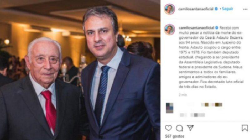 Morre ex-governador do Ceará por complicações do Covid
