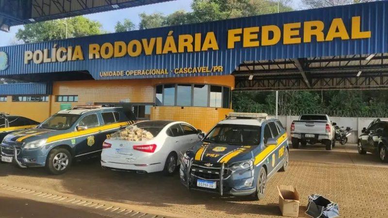 PRF encontra mais de R$ 1 milhão em carro no Paraná; veja