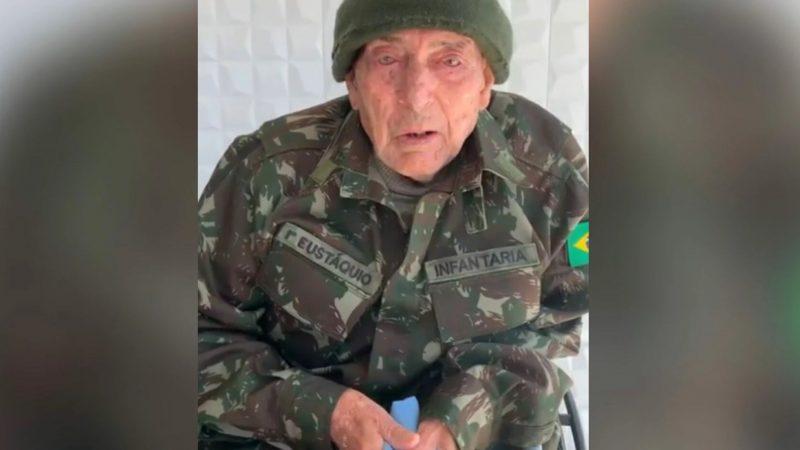 Emocionante: com 88 anos, pai de Oswaldo Eustáquio pede liberdade para o seu filho no dia do aniversário do jornalista, VEJA VÍDEO