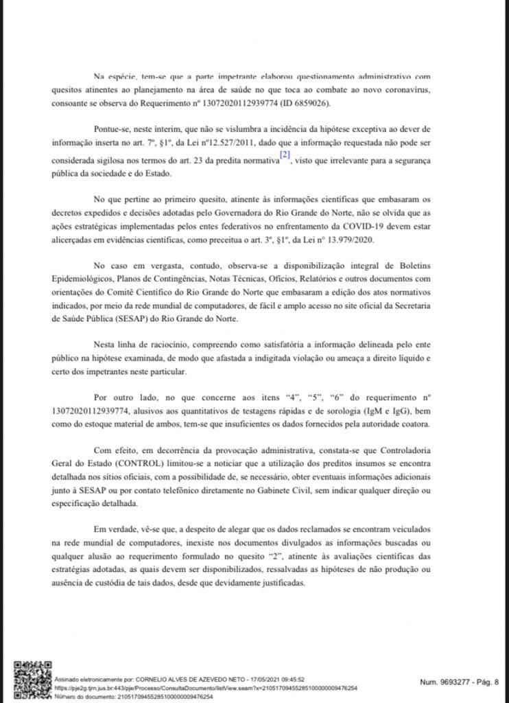 4DAF0BE6-02C3-43EC-9A1E-236460C9E59F-742x1024 Cerco se fechando: Grupo de advogados consegue mandado de segurança para que Fátima Bezerra detalhe gastos na pandemia