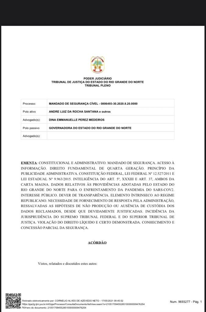 C86396EA-0BBA-41AC-8AFB-A42DF5F7E052-676x1024 Cerco se fechando: Grupo de advogados consegue mandado de segurança para que Fátima Bezerra detalhe gastos na pandemia